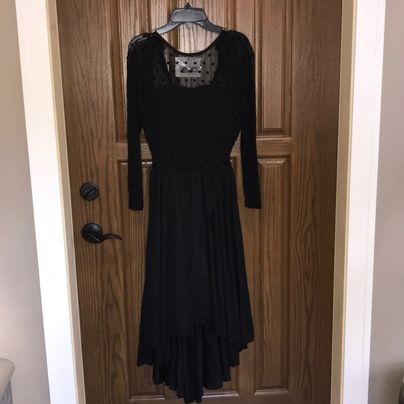 Dresses Long Black Funeral Dress Costume Poshmark